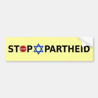 Pare o Apartheid Adesivo