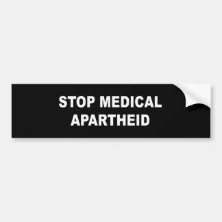 Pare o Apartheid médico Adesivos