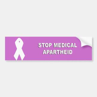 Pare o Apartheid médico Adesivo