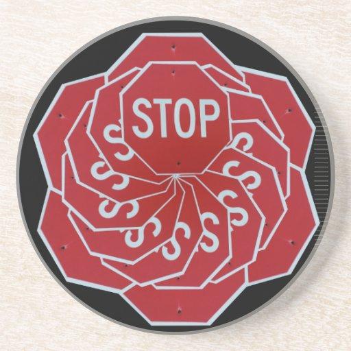 Pare o caleidoscópio do sinal porta-copos