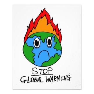 Pare o insecto do aquecimento global flyer 11.43 x 14.22cm