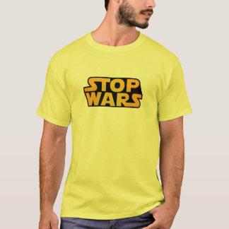 Pare o ouro das guerras - espere para a paz de camiseta