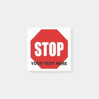 Pare o post-it feito sob encomenda 3x3 do sinal post-it notes