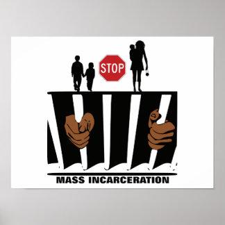 Pare X12 maciço do poster 16 da encarceração
