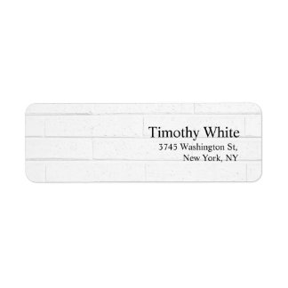 Parede cinzenta moderna minimalista elegante lisa etiqueta endereço de retorno