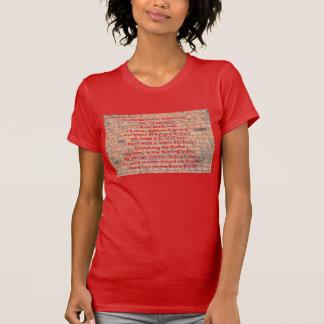 Parede com uma rima t-shirt