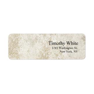 Parede de pedra moderna minimalista elegante lisa etiqueta endereço de retorno