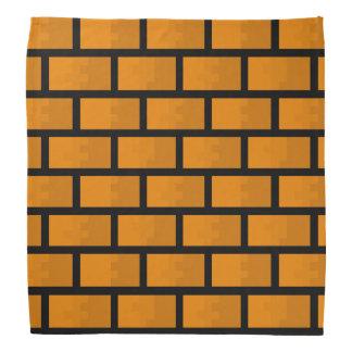 Parede de tijolo de oito bocados bandana