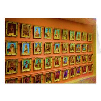 Parede dos retratos das rainhas justas do estado, cartão comemorativo