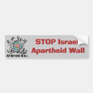 Parede israelita do Apartheid da ruptura Adesivo Para Carro