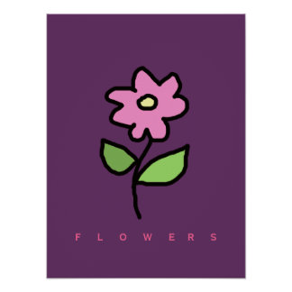 paredes florais da decoração da flor poster