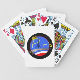Paris com os cartões de jogo da torre Eiffel da Carta De Baralho