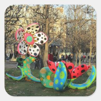 Paris - Jardin de Tuilleries Adesivos Quadrados