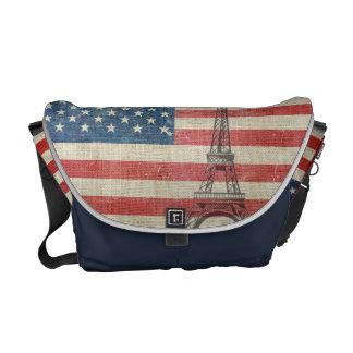 Paris loves EUA Bolsas Mensageiro