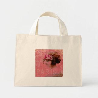 Paris na sacola cor-de-rosa bolsa para compra