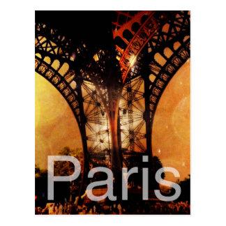 Paris românticas cartão postal