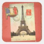 Paris Sticker4 quadrado Adesivo Quadrado