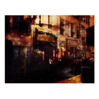 Parisiense romantismo com noitada cartão postal
