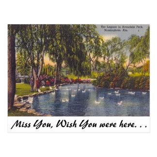 Parque de Avondale, Birmingham, AL Cartão Postal