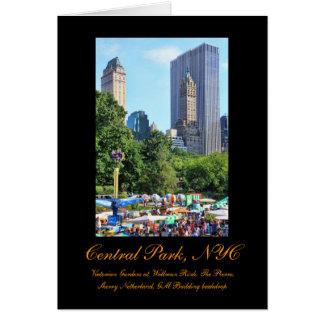 Parque de diversões do Central Park, arranha-céus, Cartão Comemorativo