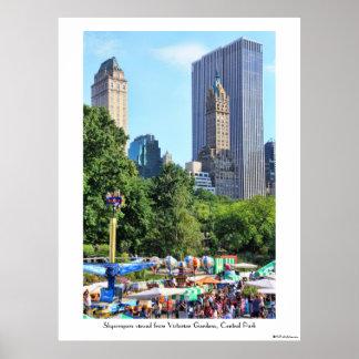 Parque de diversões do Central Park, contexto do a Posters