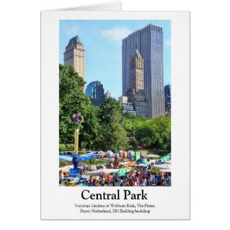 Parque de diversões do Central Park, contexto do Cartão Comemorativo