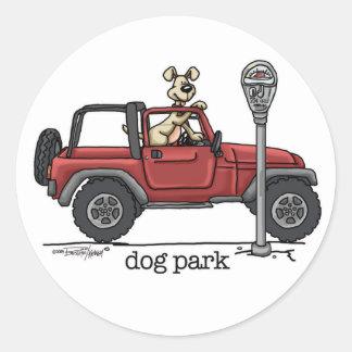 Parque do cão adesivo