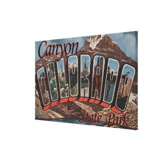 Parque estadual da garganta, Colorado - grande cen Impressão De Canvas Esticada
