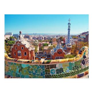 Parque Guell, Barcelona - espanha Cartão Postal