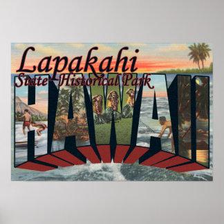 Parque histórico do estado de Lapakahi, Havaí Impressão