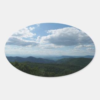 Parque nacional apalaches de montanhas II Adesivo Oval