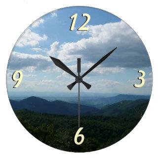 Parque nacional apalaches de montanhas II Relógio De Parede