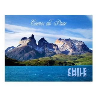 Parque nacional de Torres del Paine, o Chile Cartão Postal