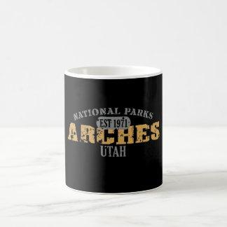 Parque nacional dos arcos caneca de café
