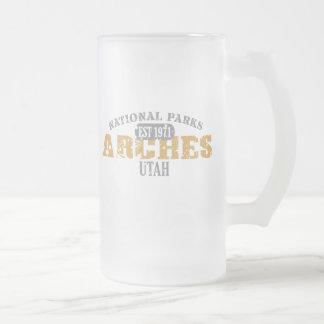 Parque nacional dos arcos caneca de cerveja vidro jateado