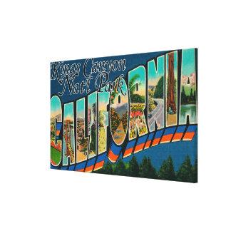 Parque nacional dos reis Garganta, CA - grande cen Impressão De Canvas Esticadas