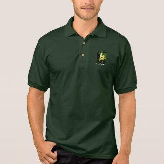 Parte 1 do pólo dos homens verdes da imagem t-shirt polo