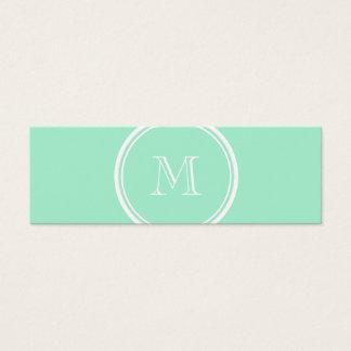 Parte alta clara do verde da hortelã colorida cartão de visitas mini