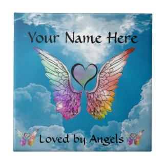 Parte - as asas e o coração do anjo adicionam o no azulejo