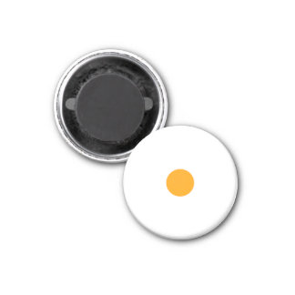 Parte branca pequena magnética do jogo da laranja ímã redondo 2.54cm