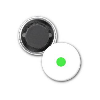 Parte branca pequena magnética do jogo do verde ímã redondo 2.54cm
