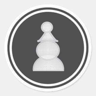 Parte de xadrez branca do penhor adesivo