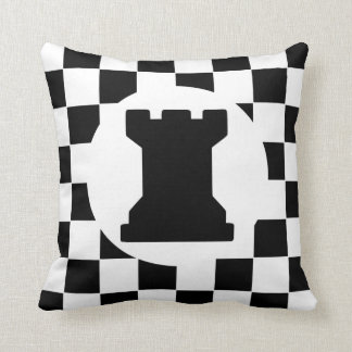 Parte de xadrez do Rook - travesseiro - presente