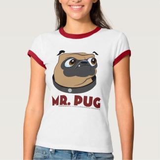 Parte dianteira & parte traseira do Pug Tshirts