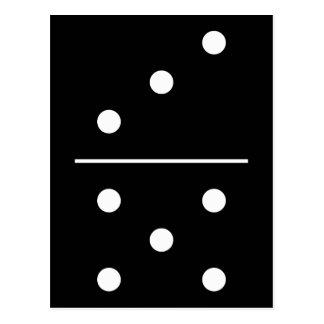 Parte do jogo dos dominós cartão postal