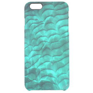 Parte inferior azul de Sandy do Aqua Capa Para iPhone 6 Plus Clear