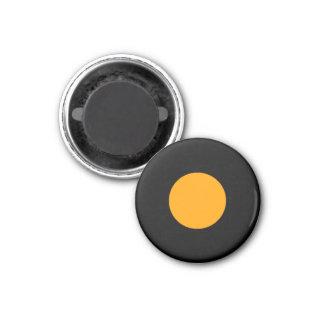 Parte preta alaranjada do jogo do meio magnético ímã redondo 2.54cm