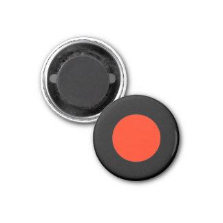 Parte preta vermelha do jogo do meio magnético ímã redondo 2.54cm