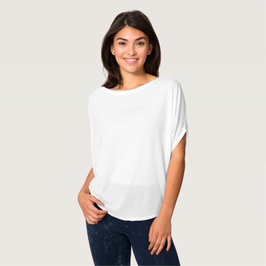 Top feminino Flowy Circle da Bella+Canvas, Branco
