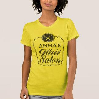 Parte superior personalizada cabeleireiro do tshirts